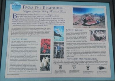 From The Beginning Marker image. Click for full size.