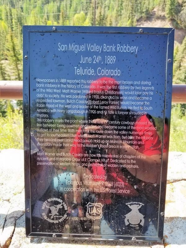 San Miguel Valley Bank Robbery Marker image. Click for full size.