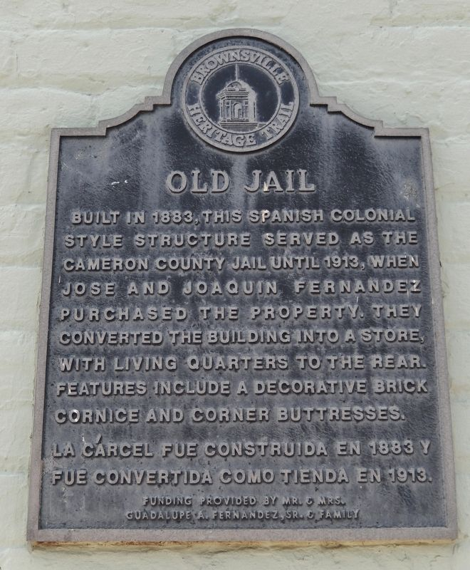 Old Jail Marker image. Click for full size.