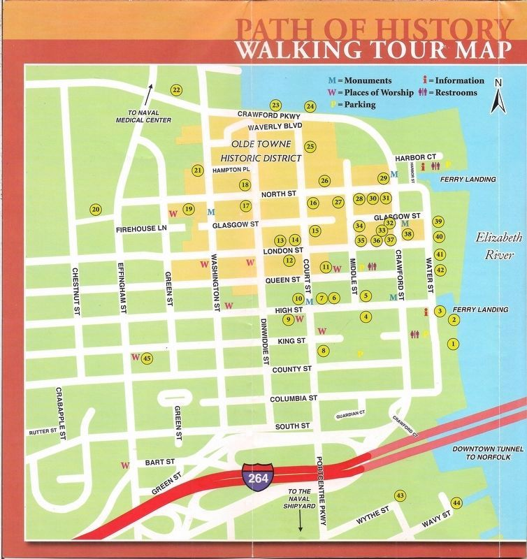 Exhibit A: Path of History Walking Tour Map. image. Click for full size.