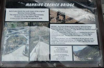 Manning Crevice Bridge Marker image. Click for full size.