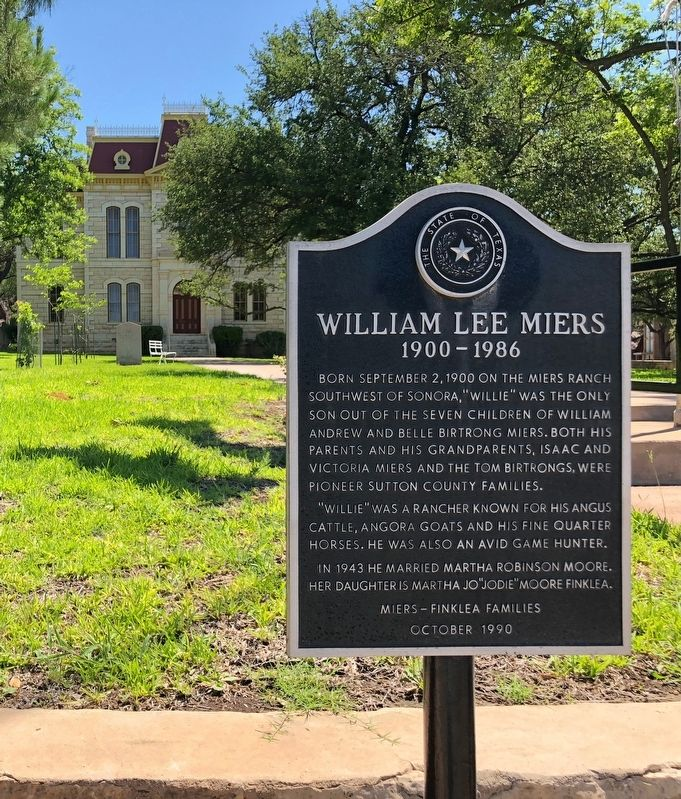 William Lee Miers Marker image. Click for full size.
