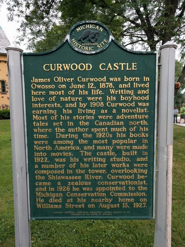Curwood Castle Marker image. Click for full size.