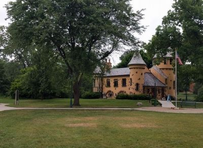 Curwood Castle and Marker image. Click for full size.