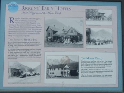 Riggins' Early Hotels Marker image. Click for full size.