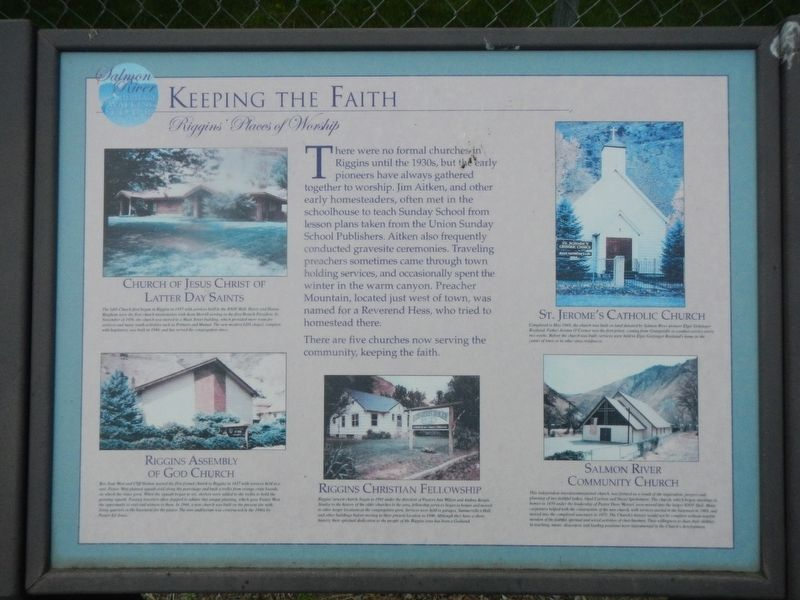 Keeping the Faith Marker image. Click for full size.