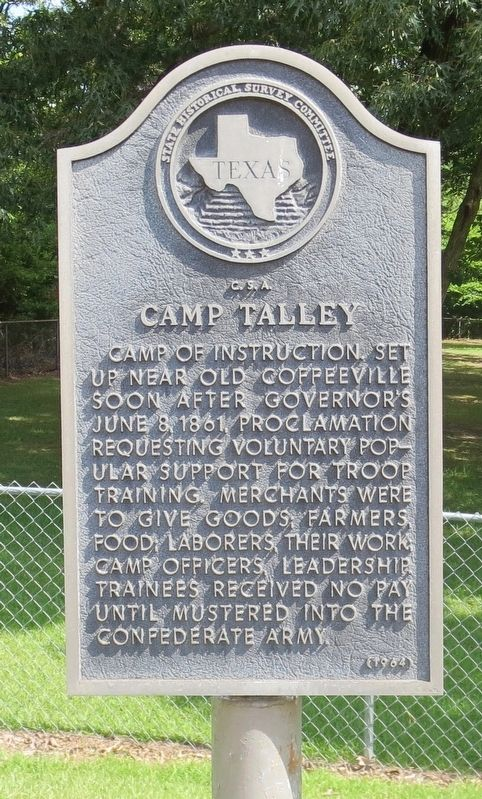 <small>C.S.A. </small> Camp Talley Marker image. Click for full size.