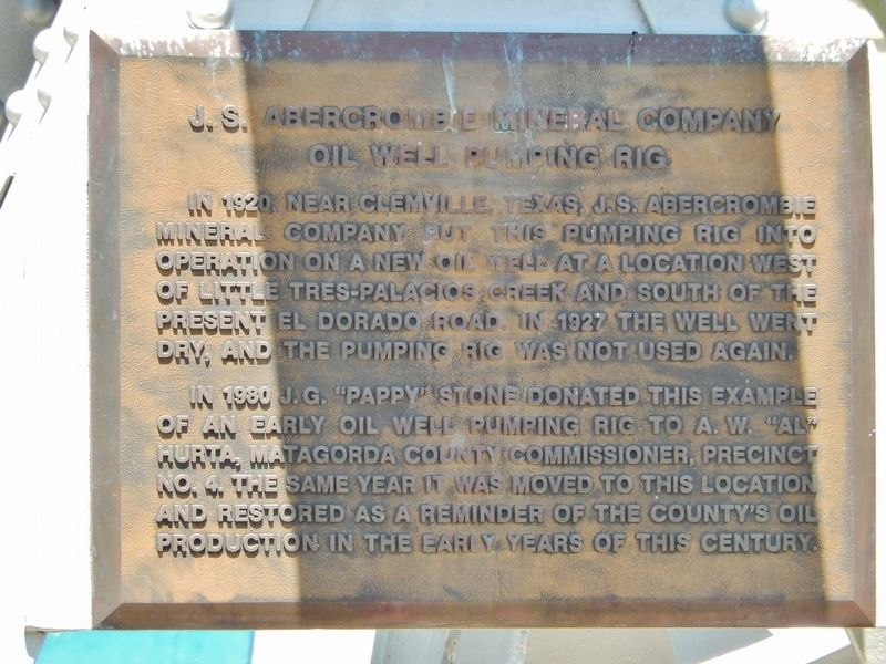 J.S. Abercrombie Mineral Company Marker image. Click for full size.