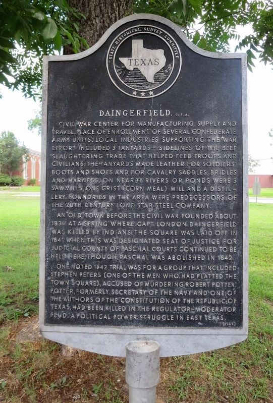 Daingerfield, <small>C. S. A.</small> Marker image. Click for full size.