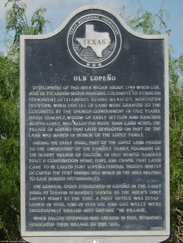 Old Lopeño Marker image. Click for full size.