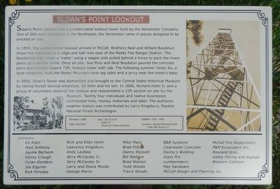 Sloan's Point Lookout Marker image. Click for full size.