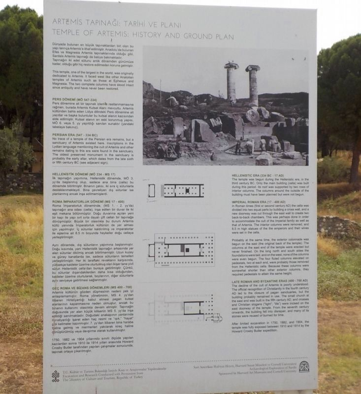 Temple of Artemis: History and Ground Plan Marker image. Click for full size.