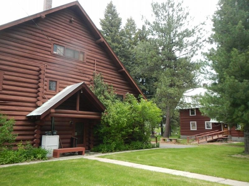 Civilian Conservation Corp buildings at the Central Idaho Historical Museum image. Click for full size.