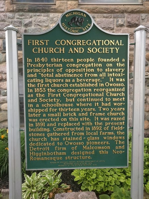 First Congregational Church and Society Marker image. Click for full size.
