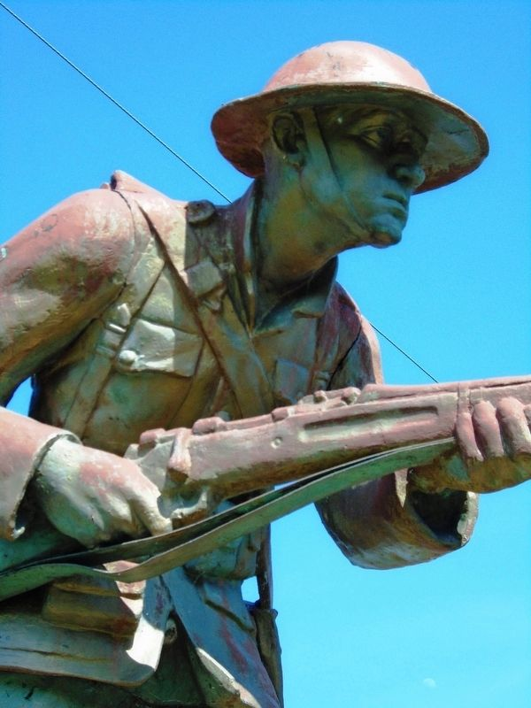 World War Memorial Doughboy Statue Detail image. Click for full size.