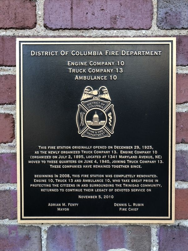 District of Columbia Fire Department Marker image. Click for full size.