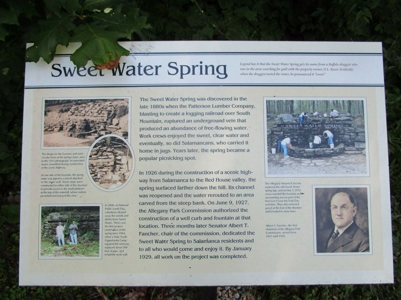 Sweet Water Spring Marker image. Click for full size.