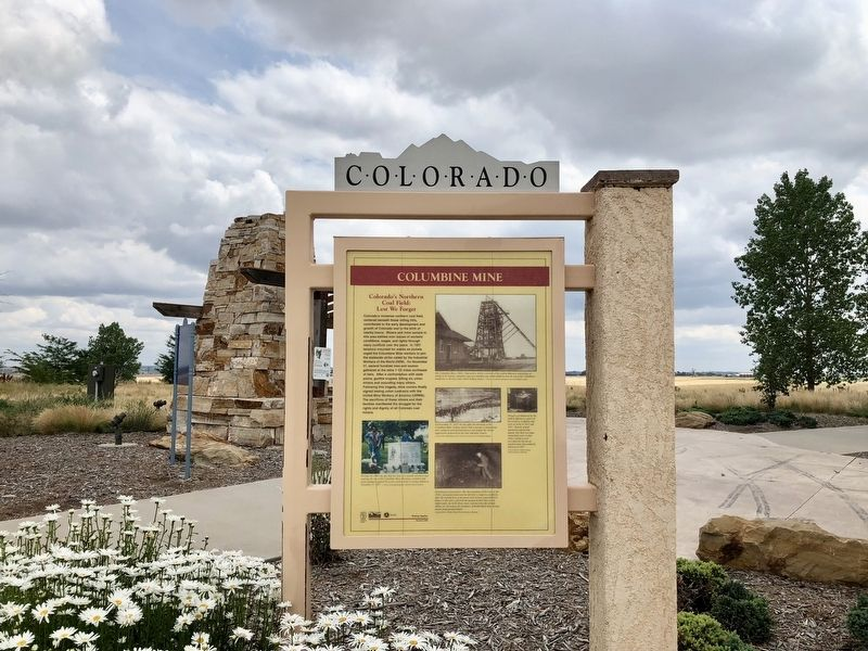 Columbine Mine / Coal Field Country Marker image. Click for full size.