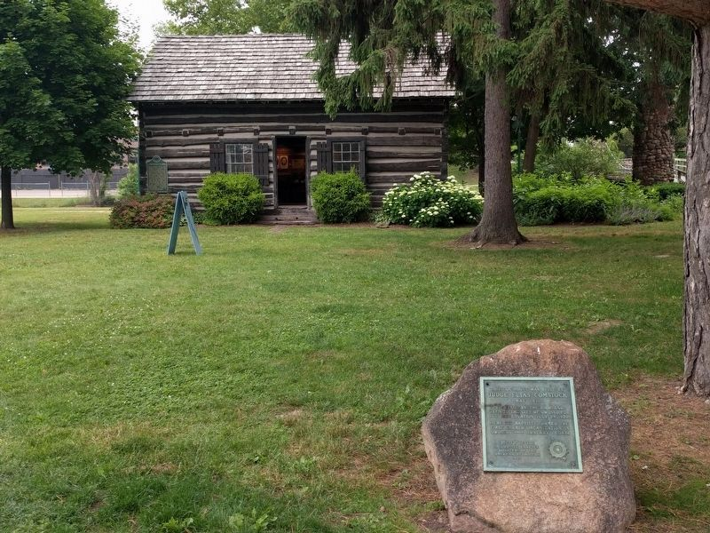 Judge Elias Comstock Cabin and Marker image. Click for full size.