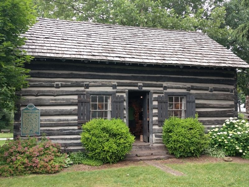 Judge Elias Comstock Cabin image. Click for full size.