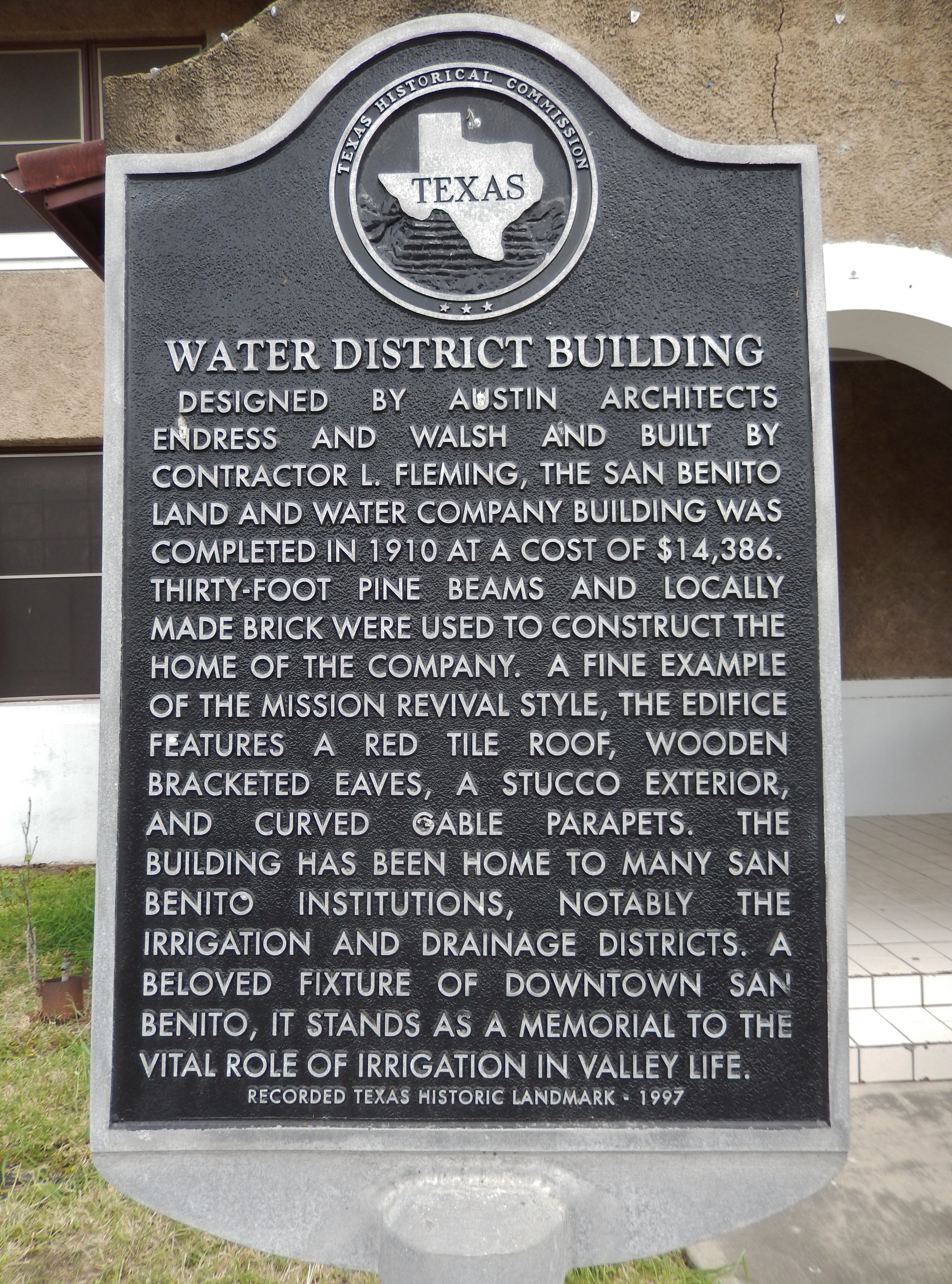 Water District Building Marker