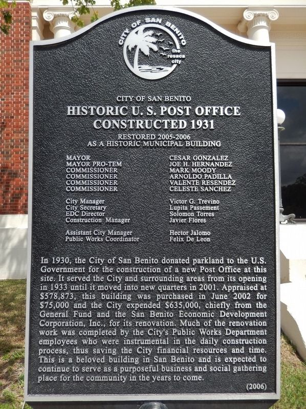 Historic U.S. Post Office Marker image. Click for full size.