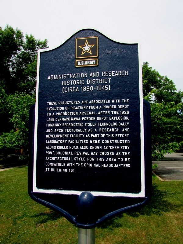 Administration and Research Historic District Marker image. Click for full size.