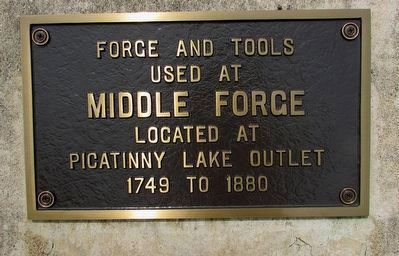 Restored Middle Forge Marker image. Click for full size.