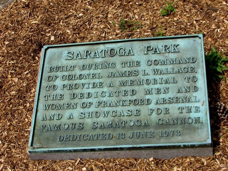 Saratoga Park Marker image. Click for full size.