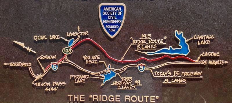 Ridge Route Map Detail image. Click for full size.