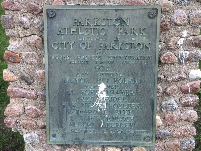 Parkston Athletic Park Marker image. Click for full size.