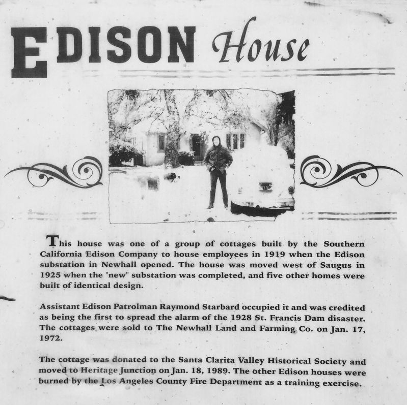 Edison House Marker image. Click for full size.