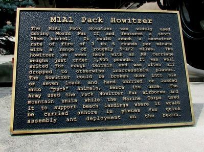 M1A1 Pack Howitzer Marker image. Click for full size.