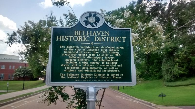 Belhaven Historic District Marker image. Click for full size.