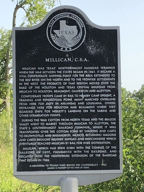 Millican, C.S.A. Marker image. Click for full size.
