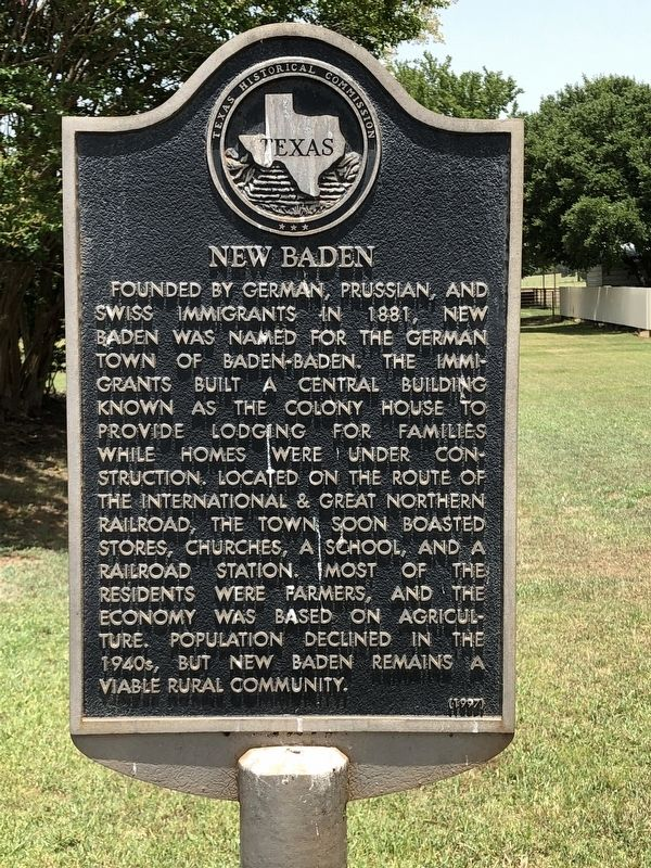 New Baden Marker image. Click for full size.