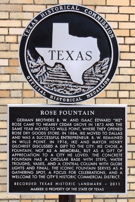 Rose Fountain Marker image. Click for full size.
