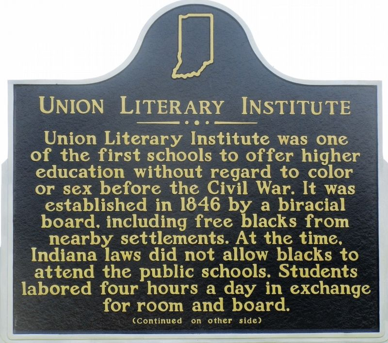 Union Literary Institute Marker image. Click for full size.