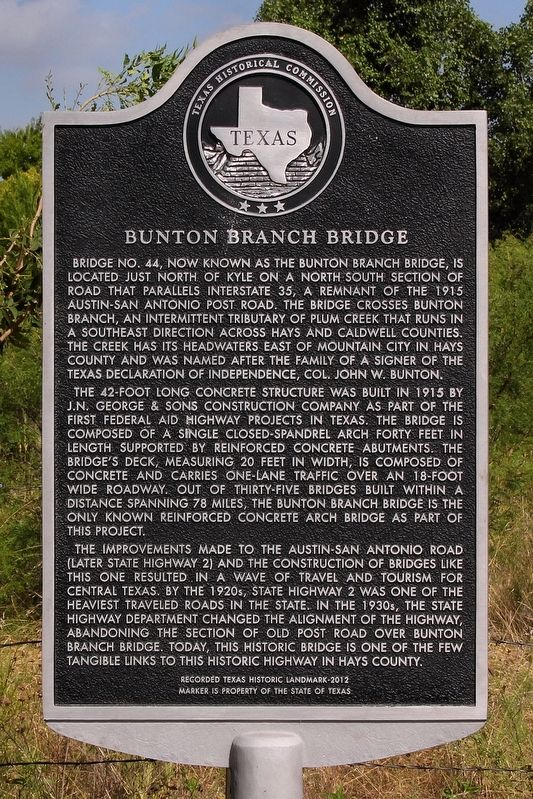 Bunton Branch Bridge Marker image. Click for full size.