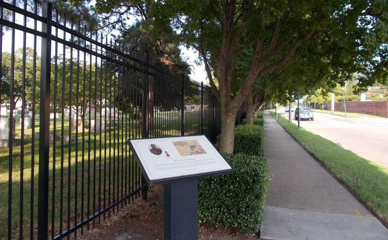 West Point Cemetery marker, facing east on E. Princess Anne Road. image. Click for full size.