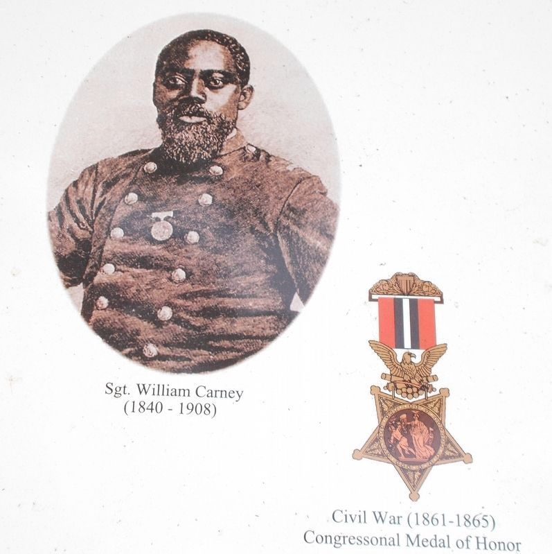 Exhibit A: Detail of Sgt. William Carney photo. image. Click for full size.