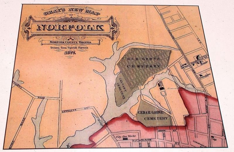 Exhibit B: Detail of the 1877 map of Norfolk. image. Click for full size.