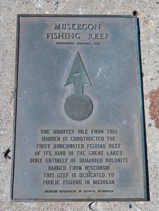 Muskegon Fishing Reef Marker image. Click for full size.