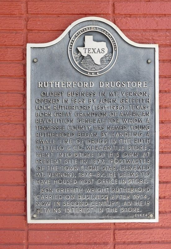 Rutherford Drugstore Marker image. Click for full size.