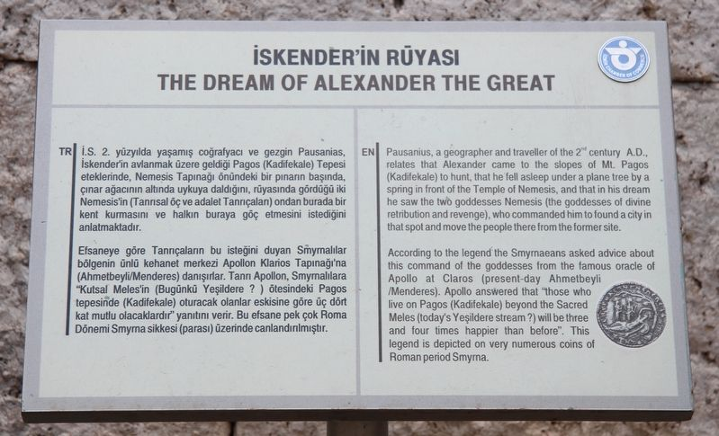 The Dream of Alexander the Great Marker image. Click for full size.