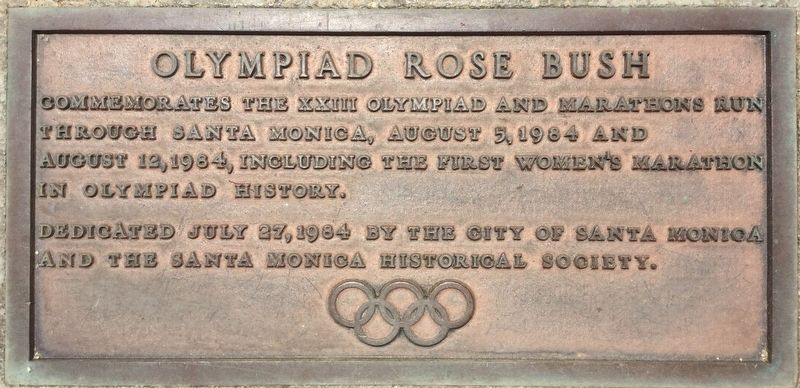 Olympiad Rose Bush Marker image. Click for full size.
