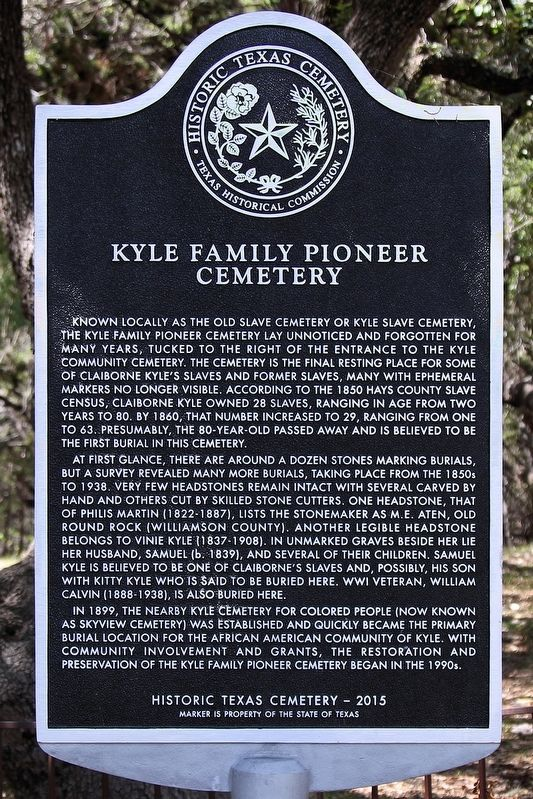 Kyle Pioneer Family Cemetery Marker image. Click for full size.