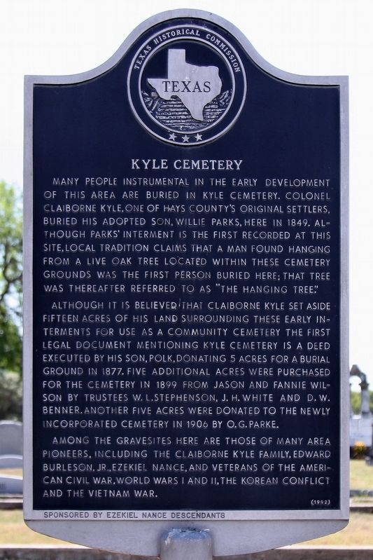 Kyle Cemetery Marker image. Click for full size.