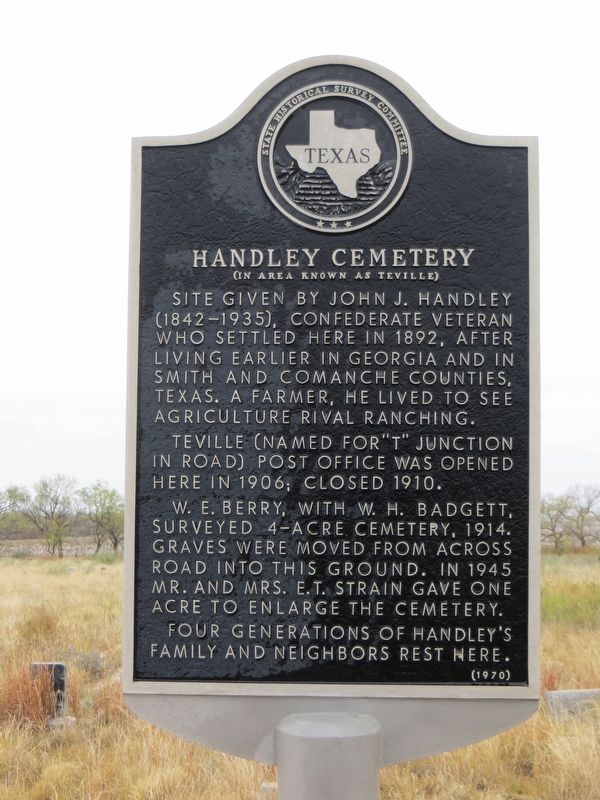 Handley Cemetery Marker image. Click for full size.