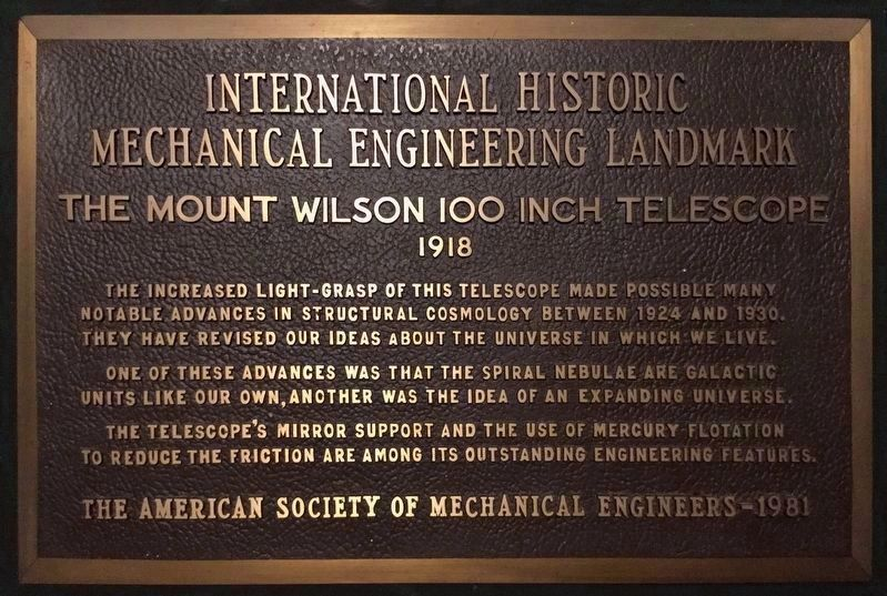 Nearby Marker, 100 Inch Telescope image. Click for full size.